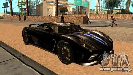 Koenigsegg Agera 2010 pour GTA San Andreas vue arrière