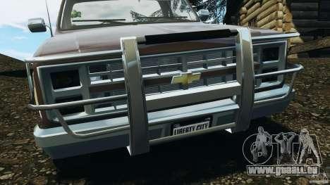 Chevrolet Silverado 1986 pour GTA 4 Salon