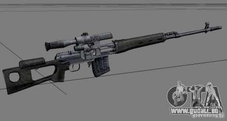 Une série d'armes de stalker V2 pour GTA San Andreas deuxième écran