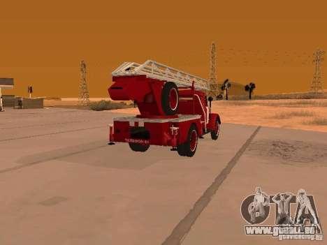 GAZ-51 ALG-17 pour GTA San Andreas sur la vue arrière gauche