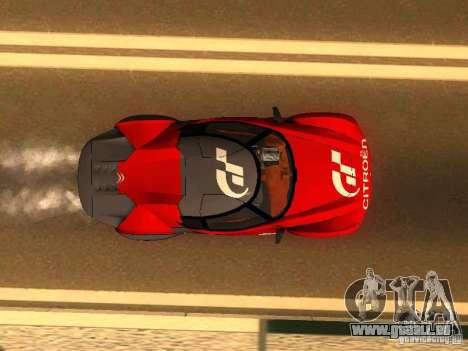 Citroen GT Gran Turismo für GTA San Andreas Rückansicht