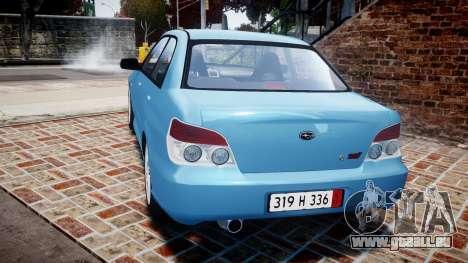 Subaru Impreza WRX STI Spec C Type RA-R 2007 für GTA 4 hinten links Ansicht