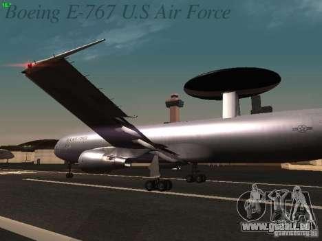 Boeing E-767 U.S Air Force pour GTA San Andreas roue
