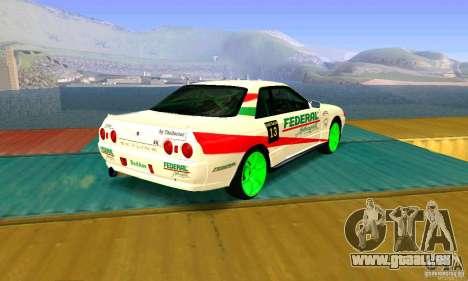 Nissan Skyline GT-R32 BadAss pour GTA San Andreas laissé vue