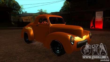 Americar Willys 1941 für GTA San Andreas Rückansicht