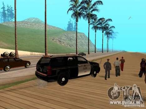 Chevrolet Tahoe Ontario Highway Police für GTA San Andreas rechten Ansicht