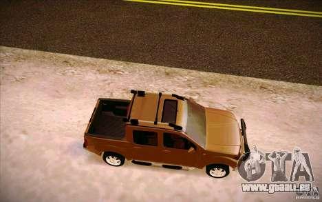 Nissan Fronter pour GTA San Andreas vue arrière