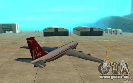 Qantas 707B für GTA San Andreas Rückansicht