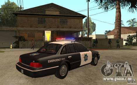 Ford Crown Victoria SFPD 1992 pour GTA San Andreas vue de droite