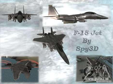 F-15 Eagle für GTA San Andreas