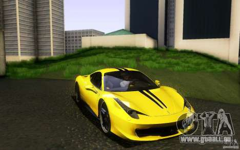 Ferrari 458 Italia Final für GTA San Andreas Innen