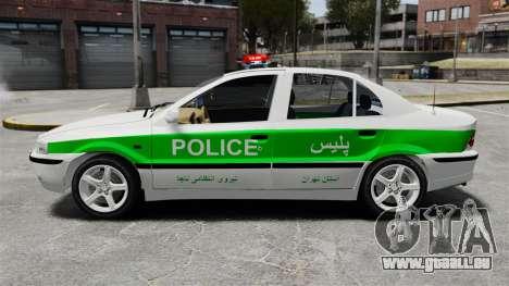 Iran Khodro Samand LX Police pour GTA 4 est une gauche