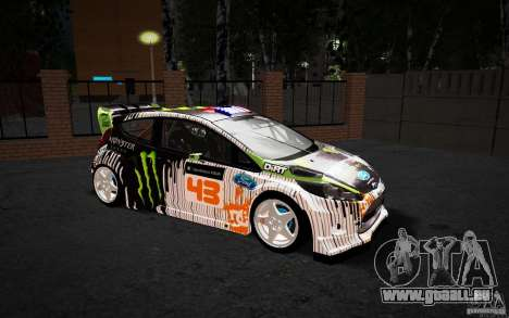 Ford Fiesta Gymkhana Four für GTA San Andreas Innenansicht
