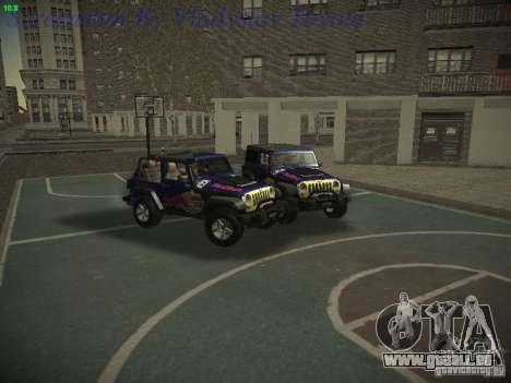 Jeep Wrangler Red Bull 2012 für GTA San Andreas rechten Ansicht