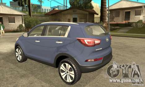 Kia Sportage 2011 HKV pour GTA San Andreas sur la vue arrière gauche