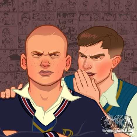 Zakruzočnye écrans Bully Scholarship Edition pour GTA San Andreas deuxième écran