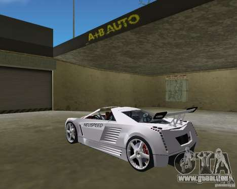 Cadillac Cien Shark Dream TUNING pour une vue GTA Vice City de la gauche