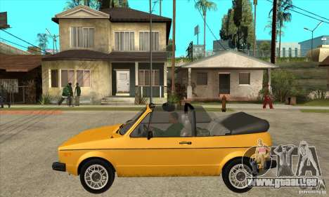 Volkswagen Rabbit Convertible für GTA San Andreas linke Ansicht