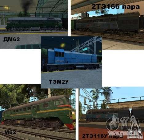 Eisenbahn-Änderung III für GTA San Andreas