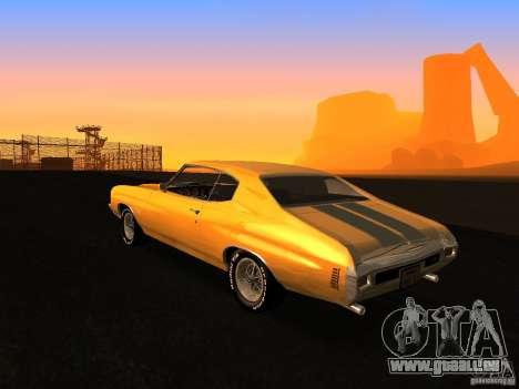 Chevrolet Chevelle SS 1970 v.2.0 pjp1 pour GTA San Andreas laissé vue