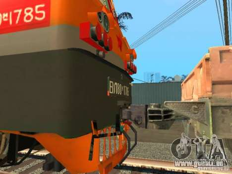 Vl80m-1785 Russische Eisenbahnen für GTA San Andreas rechten Ansicht