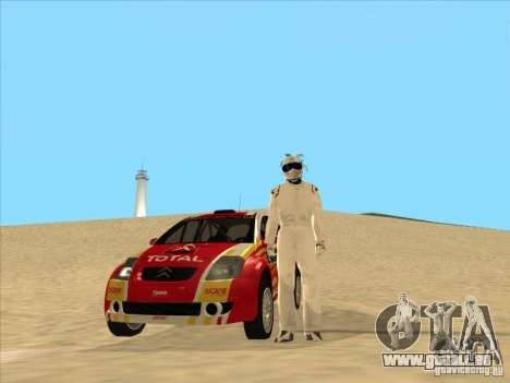 Citroen Rally Car für GTA San Andreas Rückansicht