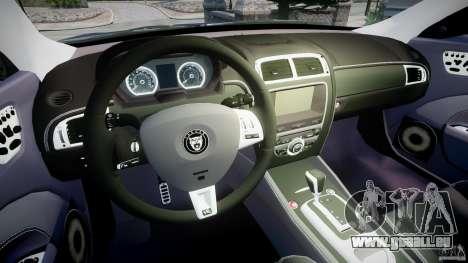 Jaguar XKR-S für GTA 4 Rückansicht
