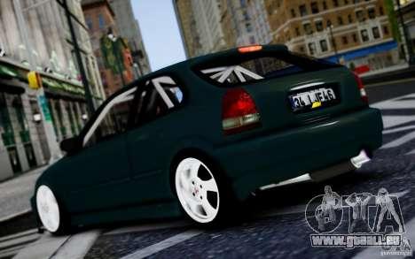 Honda Civic 1.4iES HB 1999 pour GTA 4 est un droit