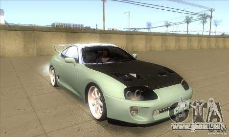 Toyota Supra pour GTA San Andreas vue arrière