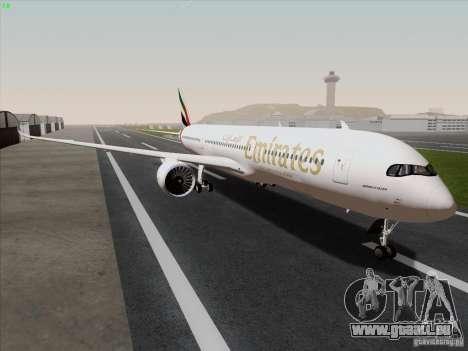 Airbus A350-900 Emirates für GTA San Andreas rechten Ansicht