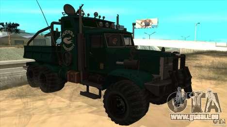 KrAZ 255 B1 Krazy-Crocodile pour GTA San Andreas vue intérieure