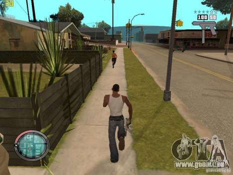 Ergänzung zu den GTA IV HUD für GTA San Andreas fünften Screenshot