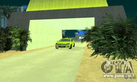 Opel Astra GTS für GTA San Andreas zurück linke Ansicht