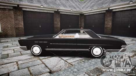 Ford Mercury Comet Caliente Sedan 1965 pour GTA 4 est une vue de l'intérieur