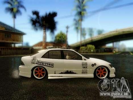 Lexus IS300 Jap style pour GTA San Andreas vue de droite