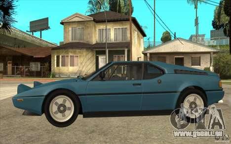 BMW M1 1981 pour GTA San Andreas laissé vue