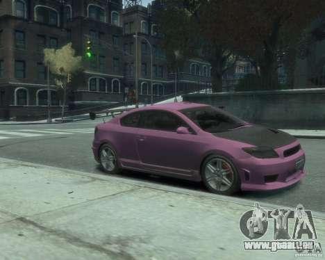 Toyota Scion Tc 2.4 pour GTA 4 Vue arrière de la gauche