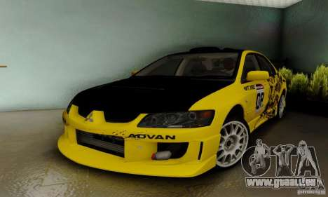 Mitsubishi Lancer Evolution 8 Tuneable für GTA San Andreas Rückansicht