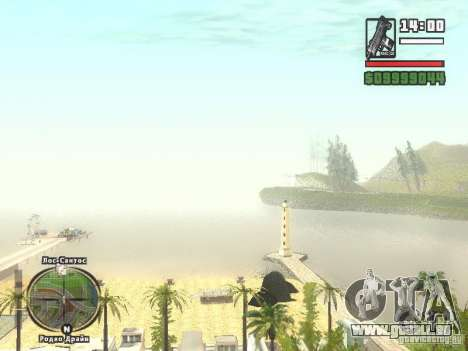 Nouvelle plage bar Vérone pour GTA San Andreas quatrième écran