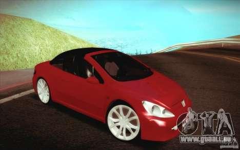 Peugeot 307CC BMS Edition pour les ordinateurs p pour GTA San Andreas vue de côté