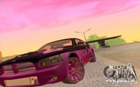 Dodge Charger SRT 8 pour GTA San Andreas vue de droite