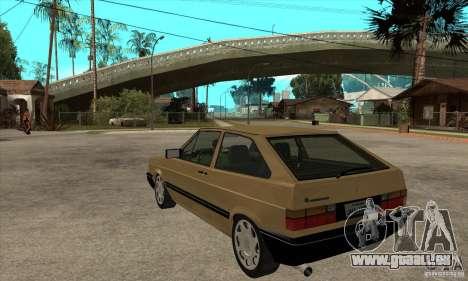 VW Gol GL 1.8 1989 pour GTA San Andreas sur la vue arrière gauche