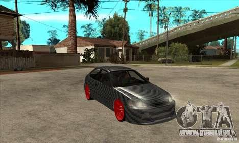Honda Civic Carbon Latvian Skin pour GTA San Andreas vue intérieure