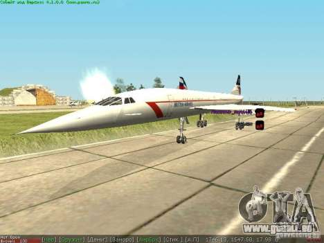Concorde [FINAL VERSION] für GTA San Andreas rechten Ansicht