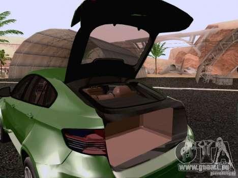 BMW X6 LT pour GTA San Andreas vue de côté