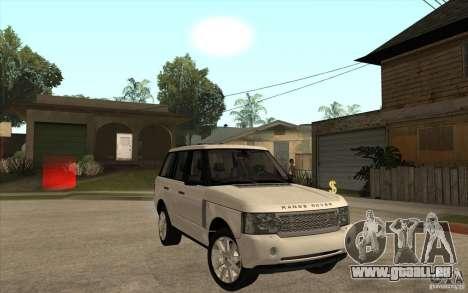 Range Rover Supercharged 2008 pour GTA San Andreas vue arrière