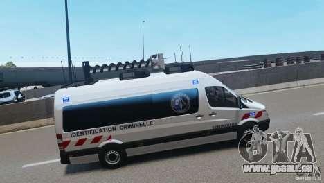Mercedes-Benz Sprinter-Identification Criminelle pour GTA 4 Vue arrière de la gauche