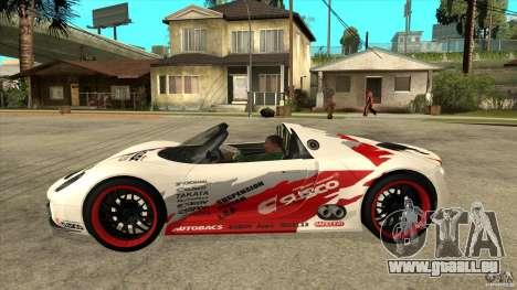 Porsche 918 Spyder Consept pour GTA San Andreas laissé vue