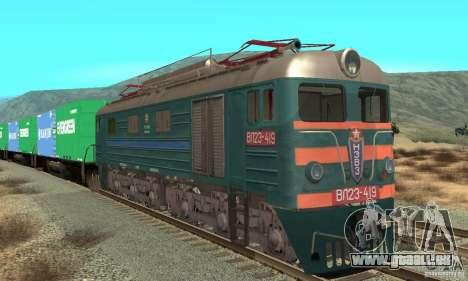 Locomotive VL23-419 pour GTA San Andreas laissé vue