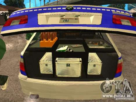 BMW 525i Touring Police für GTA San Andreas Rückansicht